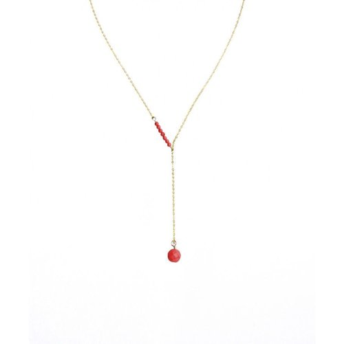 Chayenne Jewelry Charlene K Coral Beads Pendant Y-Drop Short Necklace by Generic