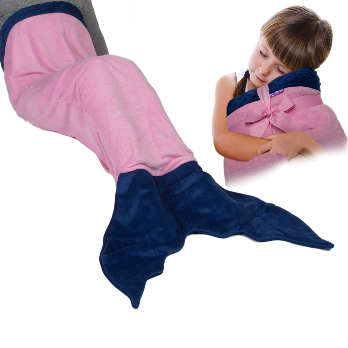 Original Comfy Tail Mermaid Tail Blanket Throw Plush Fleece Sleeping Bag for Kids and Adults by