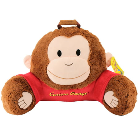 Sweet Seats Adorable Curious George Children's Plush Floor Cushion   Ideal for Children Ages 2 and up   Storage Pocket on Back   26