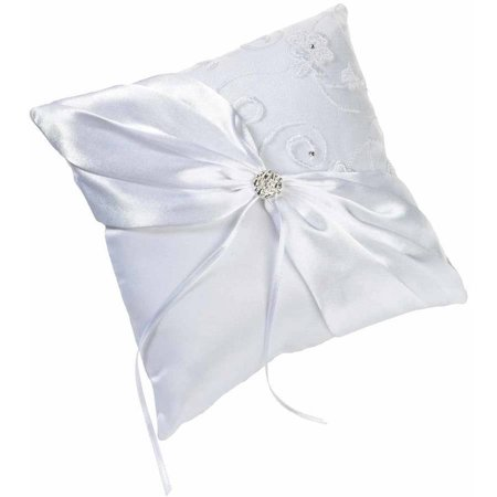 Lillian Rose White Lace Ring Bearer Pillow