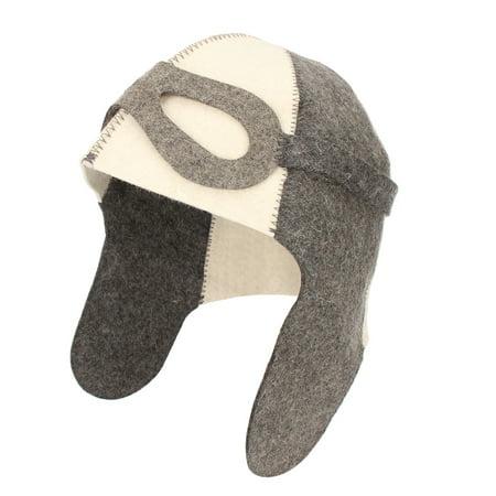 "Wool Felt Bath Sauna Hat Russian Banya Cap 100% Wool Felt White Sauna Hat for Head Protection 9.8"" x 14.2"" Dia. 8.7"" - image 2 de 5"