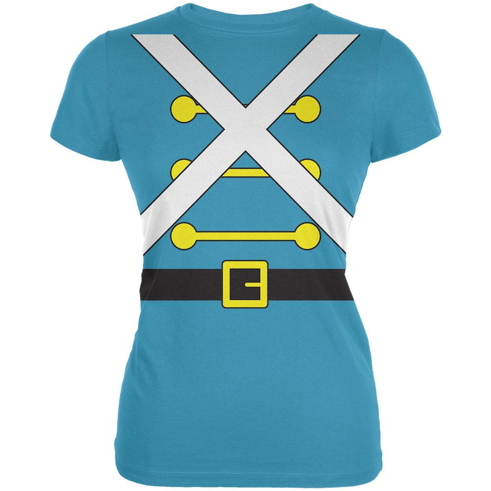 Christmas Toy Soldier Costume Juniors Soft T Shirt