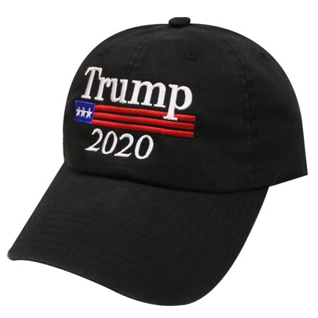 Unisex Trump Flag 2020 Cotton Baseball Cap - Black - Walmart.com 7bfbe391e680