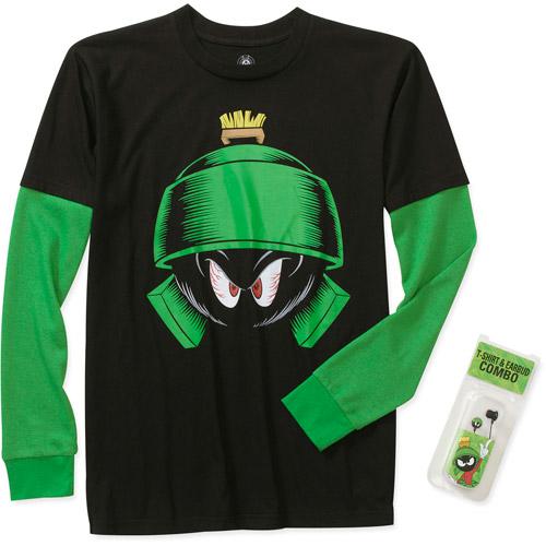 Marvin Martian Big Men's Long Sleeve 3 Fer Tee Shirt