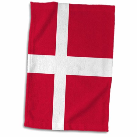 3dRose Flag of Denmark - Danish red with Dane white Scandinavian cross - Scandinavia European world country - Towel, 15 by 22-inch ()