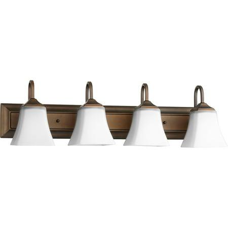 Bathroom Vanity 4 Light With Oiled Bronze Finish Medium Base Bulbs 30 inch 400 Watts