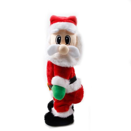 redcolourful christmas santa claus figure twisted hip twerking singing electric toys kid gift - Singing Christmas Toys