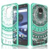 Moto Z Droid Case, Motorola Moto Z Droid Edition Case For Girls, Tekcoo [TFlower] Transparent [Crystal] Cute Lovely Adorable Ultra Slim Clear Hard TPU Skin Scratch-Proof Bumper Phone Cover Cases