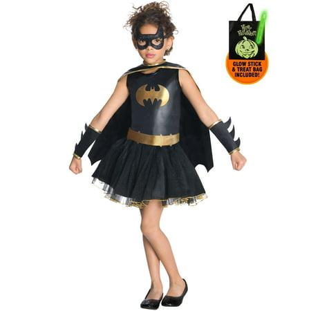 Girls Batgirl Tutu Costume Treat Safety - Tutu Kits