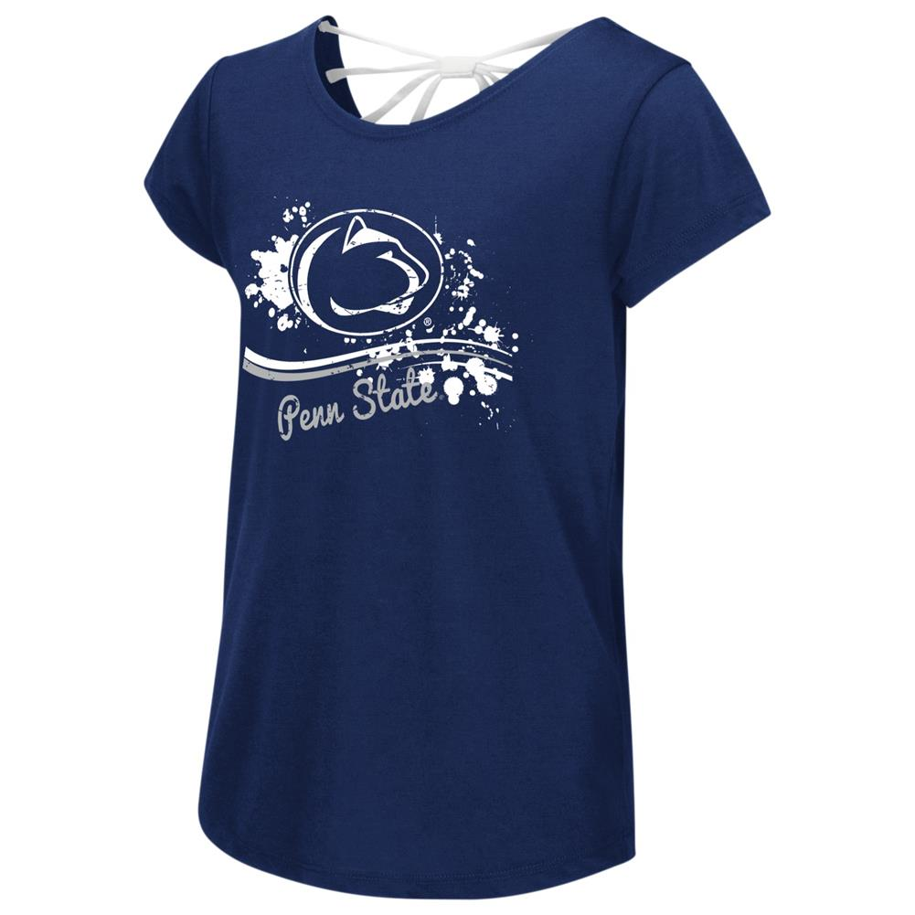 Penn State University Youth Girls Bow Back Short Sleeve Tee