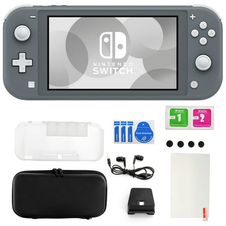 Nintendo Switch Lite in Gray with 11 in 1 Accessories Kit
