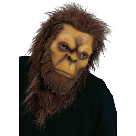Big Foot Mask Adult Halloween - Brown Wolf Mask