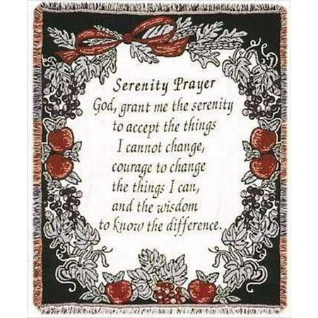 Simply Home Serenity Prayer Tapestry Throw Blanket