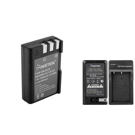 Nikon D40 Body - Insten Battery + Charger EN-EL9 EN-EL9a MH-23 For Nikon D40X D40 D60 D5000 D3000 (2-in-1 Accessory Bundle)