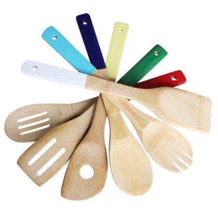 Kitchen Gadgets, Outgeek 6Pcs Non-stick Wooden Spoons Spatula ...