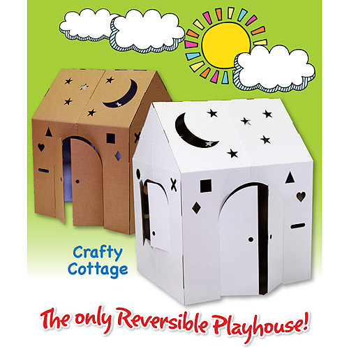 Easy Playhouse Crafty Cottage Cardboard Playhouse