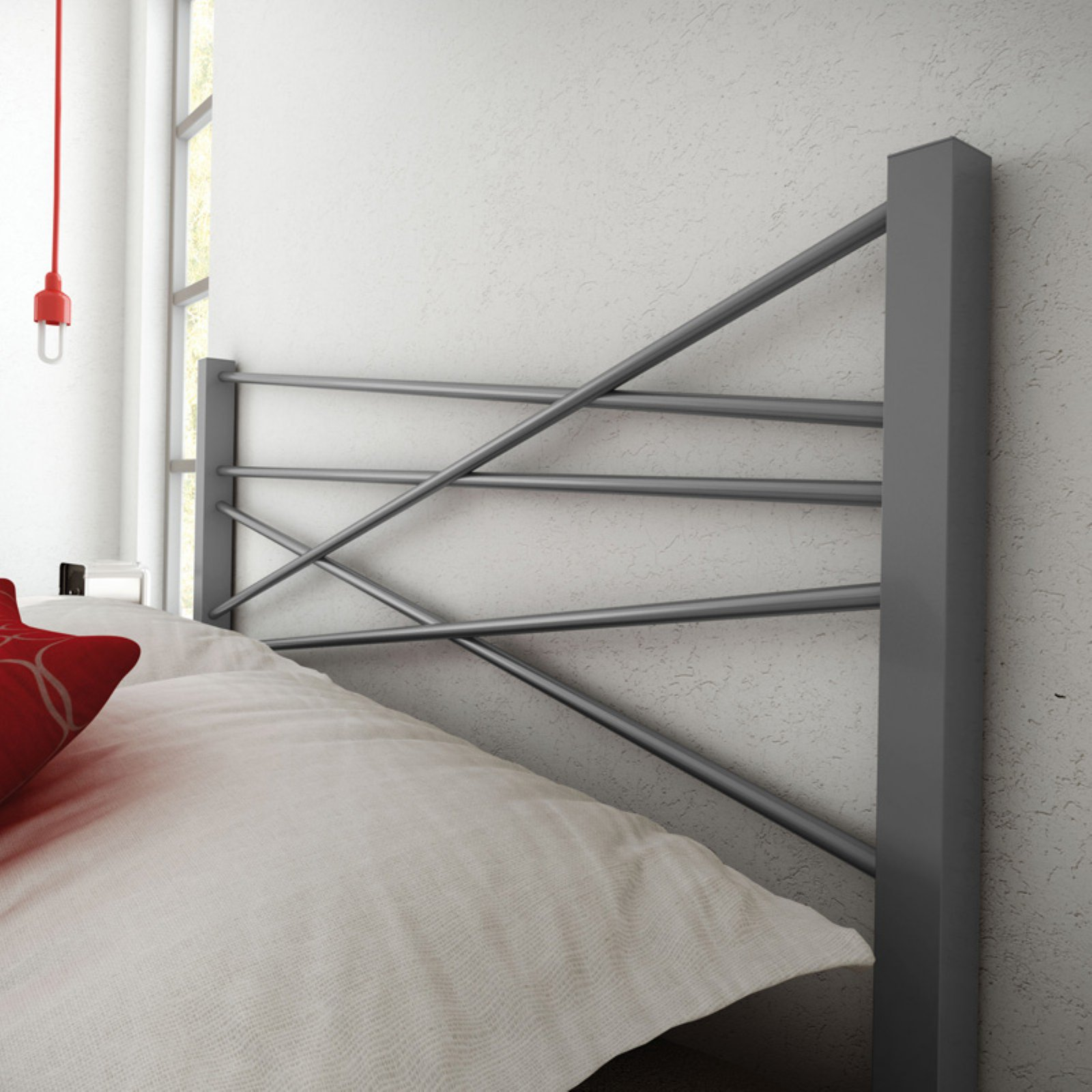 Amisco Crosston Metal Headboard