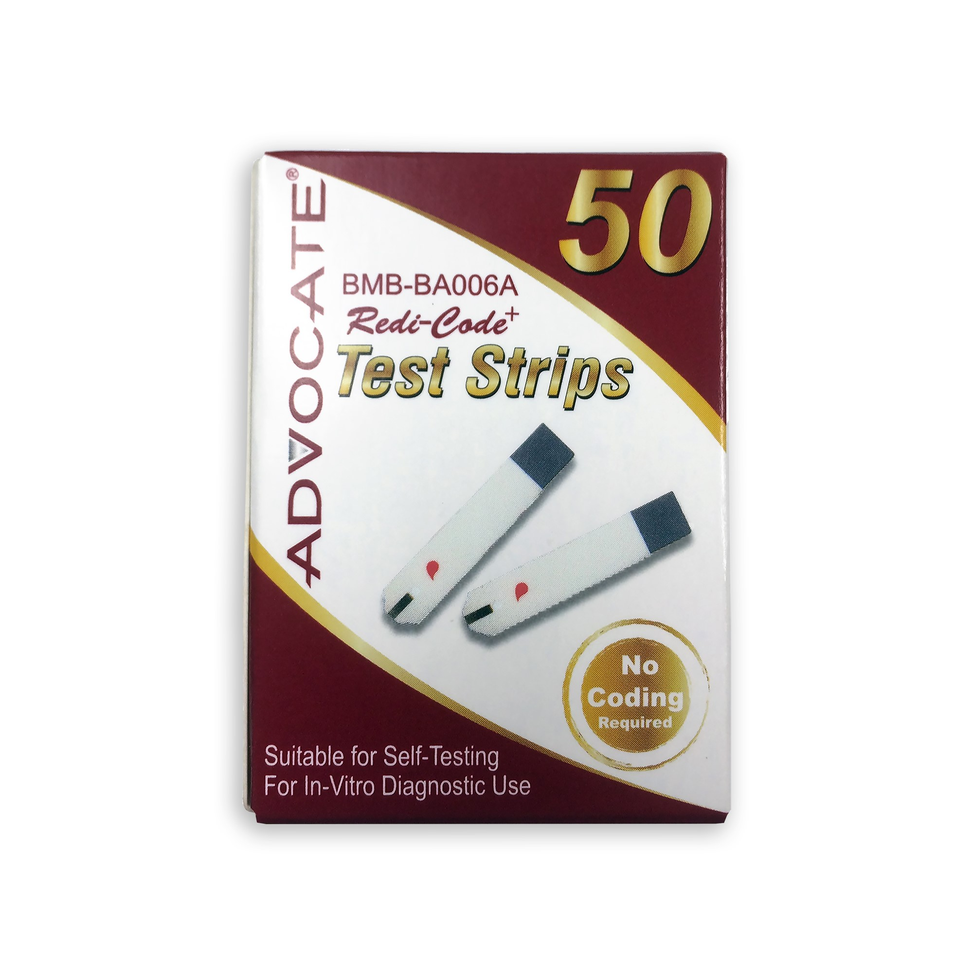 Advocate Redi-Code Plus Test Strips, 50 Ct