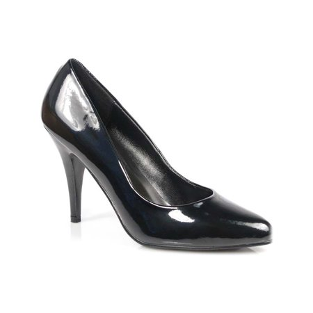 4 inch womens sexy shoes wear to work shoes classic pump shoes black patent ()