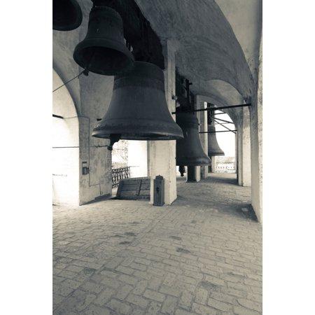 Bells In The Rostov Kremlin Bell Tower Rostov Veliky Yaroslavl Oblast Russia Poster Print