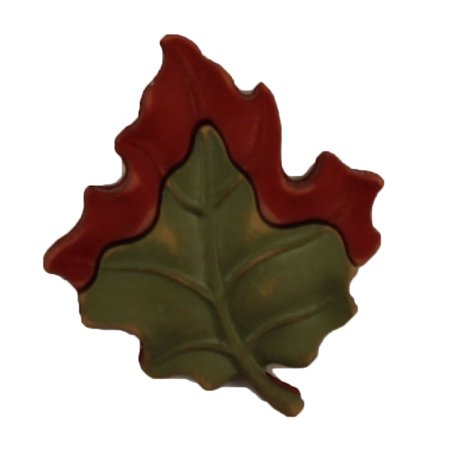 BUTTONS GALORE MAPLE LEAF BULK 3D - 25 BUTTONS - Maple Leaf Button