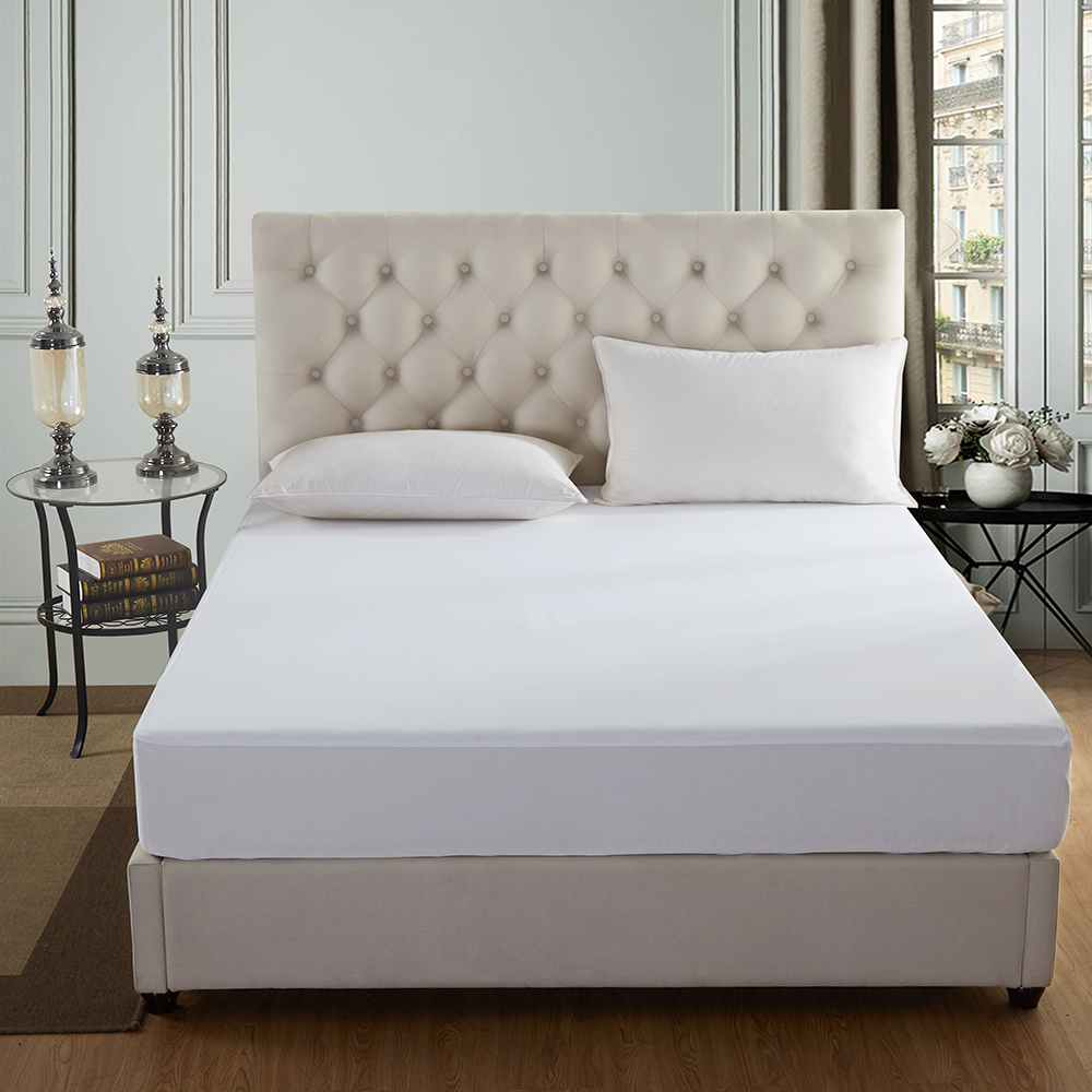 Mattress Protector Waterproof Bamboo Soft Hypoallergenic Fitted Mattress Cover H
