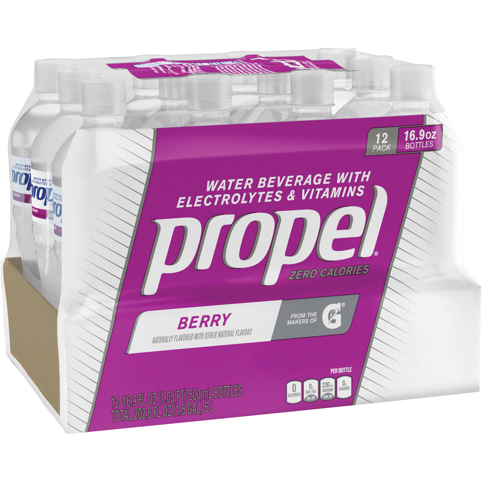 Propel Flavored Water Berry 16.9 oz, 12 ct
