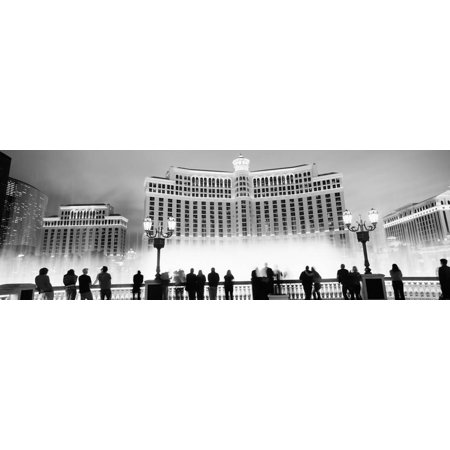 Hotel Lit Up at Night, Bellagio Resort and Casino, the Strip, Las Vegas, Nevada, USA Print Wall - Halloween Events Las Vegas Strip