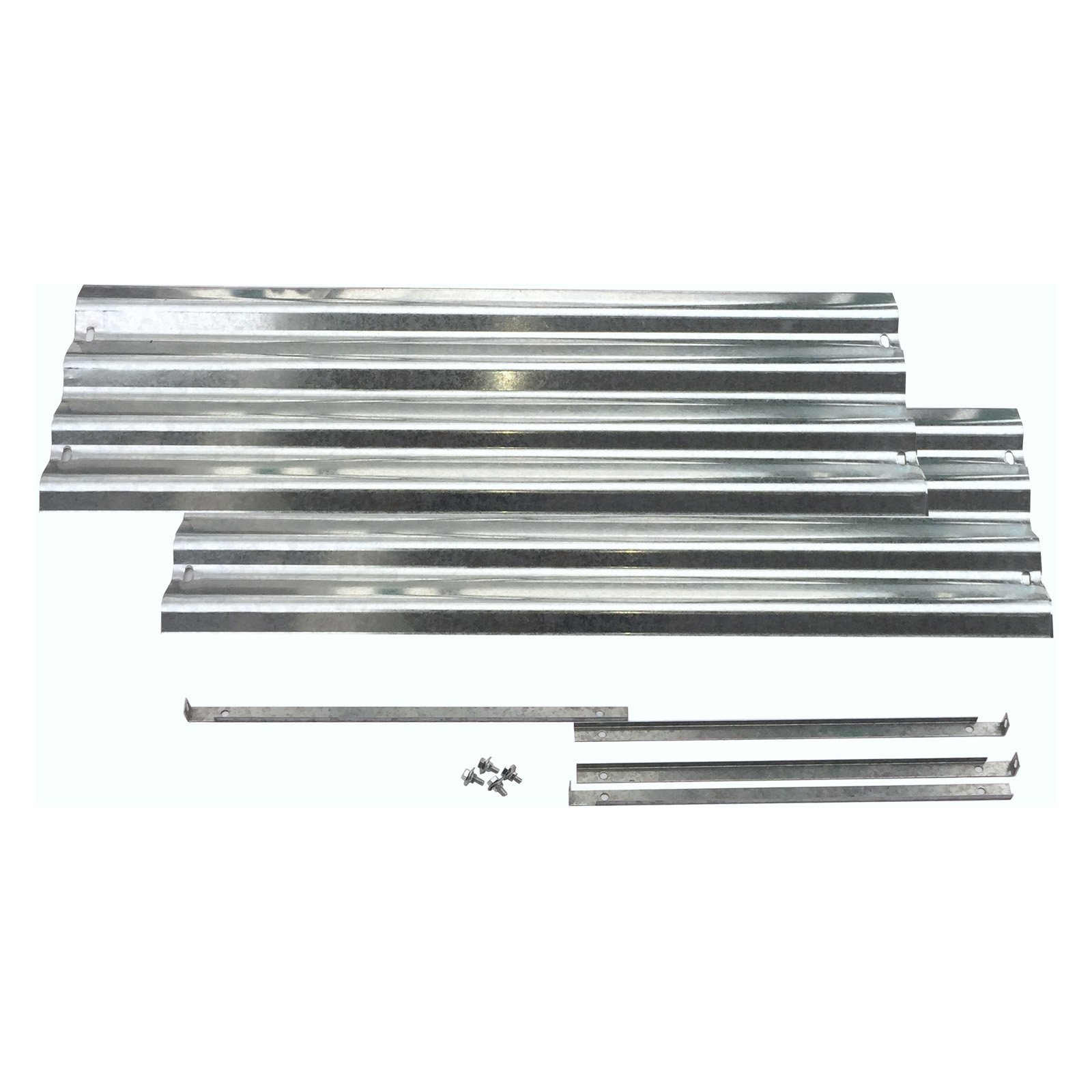 EarthMark Galvanized Low 36 in. Raised Garden Bed Extension Set
