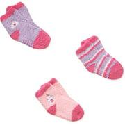 Disney Princess Baby Toddler Girl Socks, 3-Pack