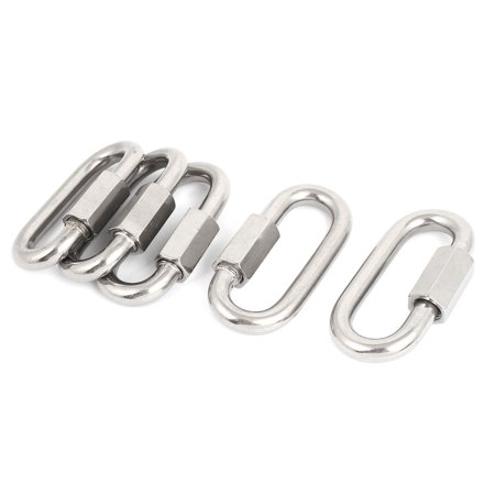 10mm Thickness Stainless Steel Quick Oval Screwlock Link Lock Carabiner 5 Pcs - image 2 of 2