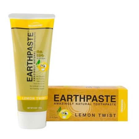 Redmond Earth Paste Natural Toothpaste, Lemon Twist, 4 Oz - Lemon Twist