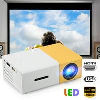 EEEkit Projector, Video Mini Portable Projector, 320*240 Native Resolution Display Portable LED Projector, Multimedia Home Theater Video Projector, Support HD 1080P HDMI/VGA/AV/USB/TV Box/PS