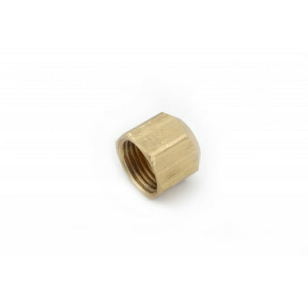 Anderson Metal 704040-08 Fitting Plug/ Fitting Cap LF 7440 Series 3/4 Inch - 16 Thread Size; Fits 1/2 Inch Outside Diameter Tube 45 Degree Flare; Brass; Single; Lead Free - image 1 de 1
