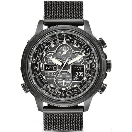 Navihawk A-T Perpetual Atomic Chronograph Mens Watch (Citizen Skyhawk At Stainless Steel Chronograph Atomic)