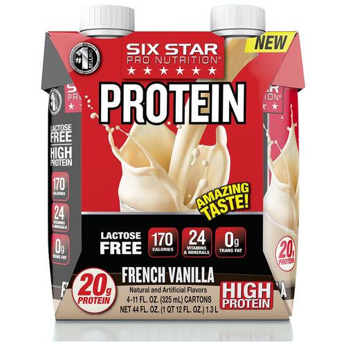 Six Star Pro Shake, 20 Grams of Protein, French Vanilla, 11 Oz, 4 Ct