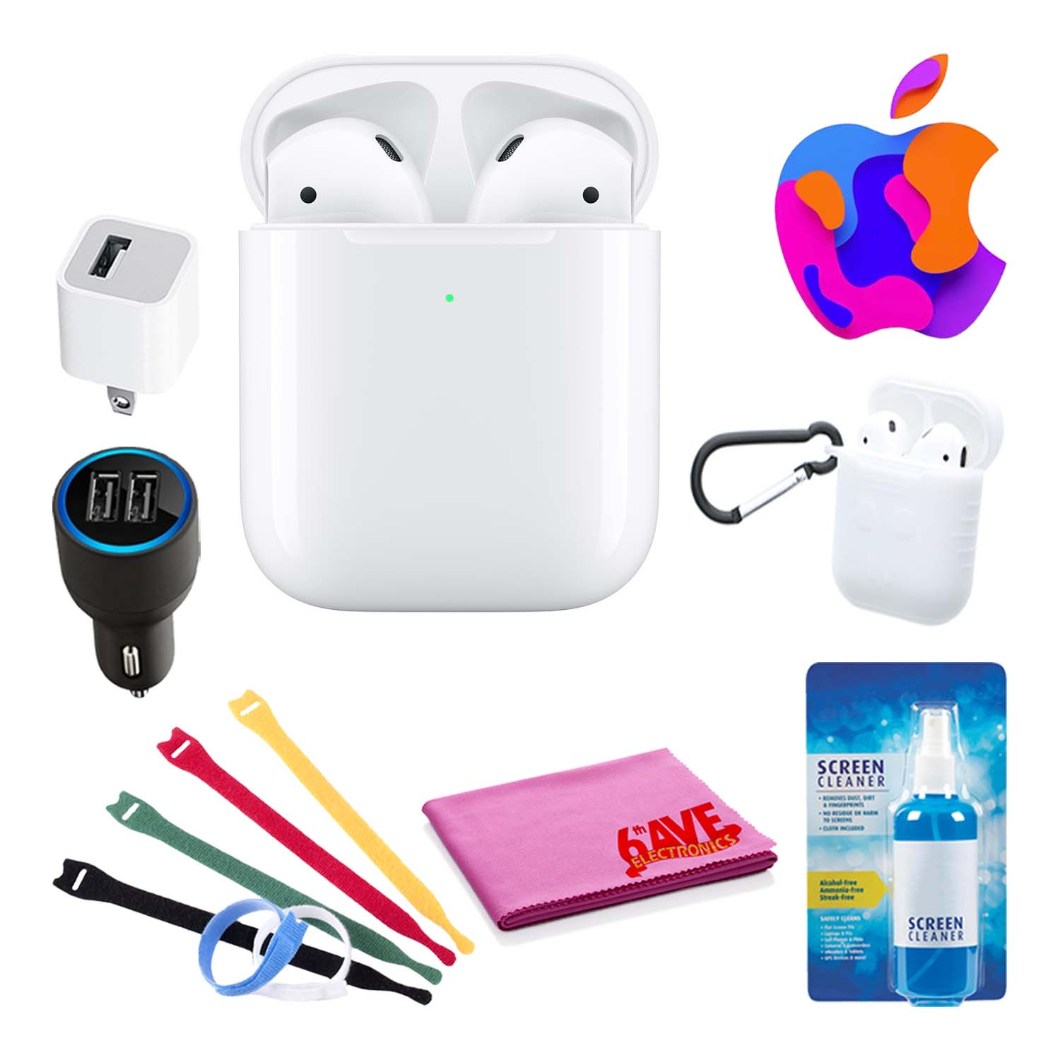 Apple Airpods With Wireless Charging Case 2nd Gen Bundle With