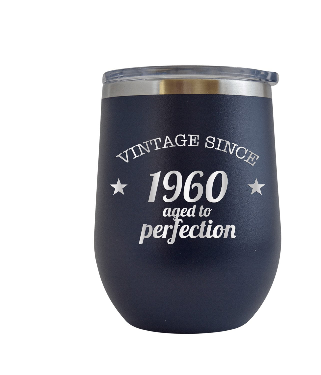 60th Birthday Gift for Men or Women 12 oz Stainless Steel Engraved Tumbler 60 year old humorous funny birthday gift 1960 60th birthday decorations for women mom dad men