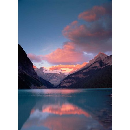 Alpenglow Lake Louise and Victoria Glacier Banff National Park Alberta Canada Poster Print by Tim Fitzharris (9 x 12)