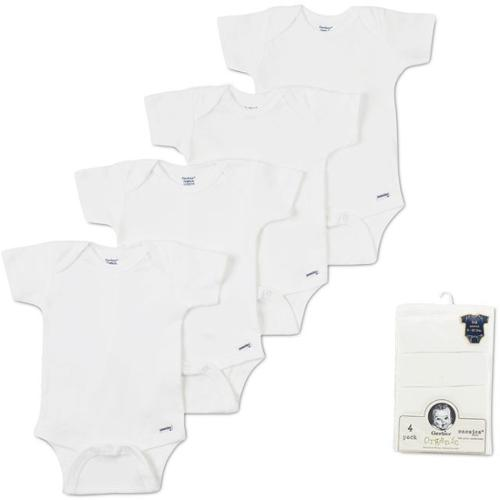 Gerber 4-Pack Organic Bodysuits - Newborn