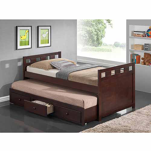 Broyhill Kids Breckenridge Captain's Bed with Trundle Bed and Drawers, Espresso