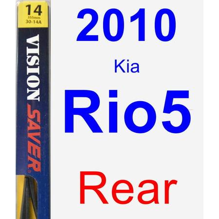 2010 Kia Rio5 Rear Wiper Blade - Rear