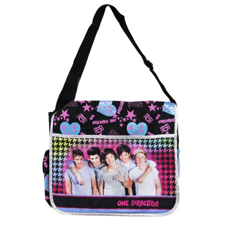 One Direction Group Photo Stars and Hearts Full Size Messenger Bag