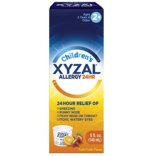 XYZAL ALLERGY 24hr Children's Oral Solution Alcohol Free 5oz Each
