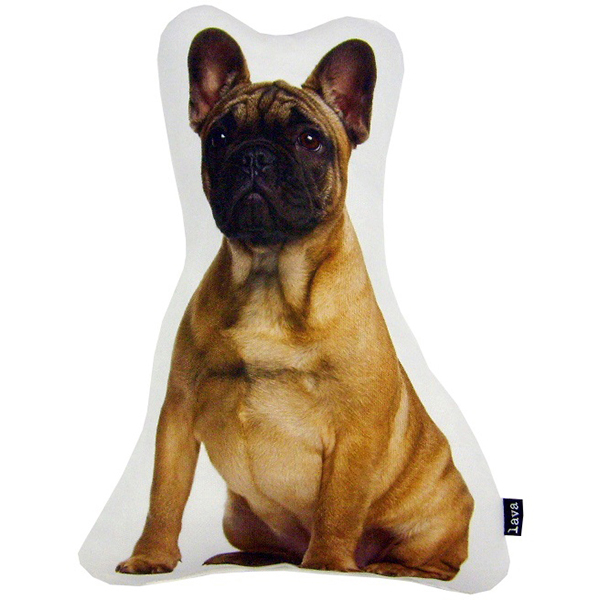 """lava French Bull Puppy Shaped Pillow, 12"""" x 12"""" by Lava"""