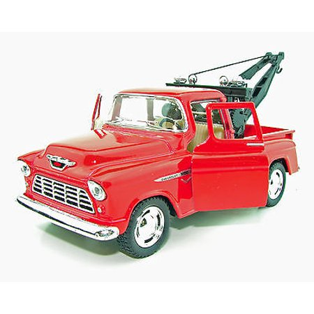 New Kinsmart 1955 Chevy 3100 Stepside Tow Truck Diecast Model Toy 1:32 Red