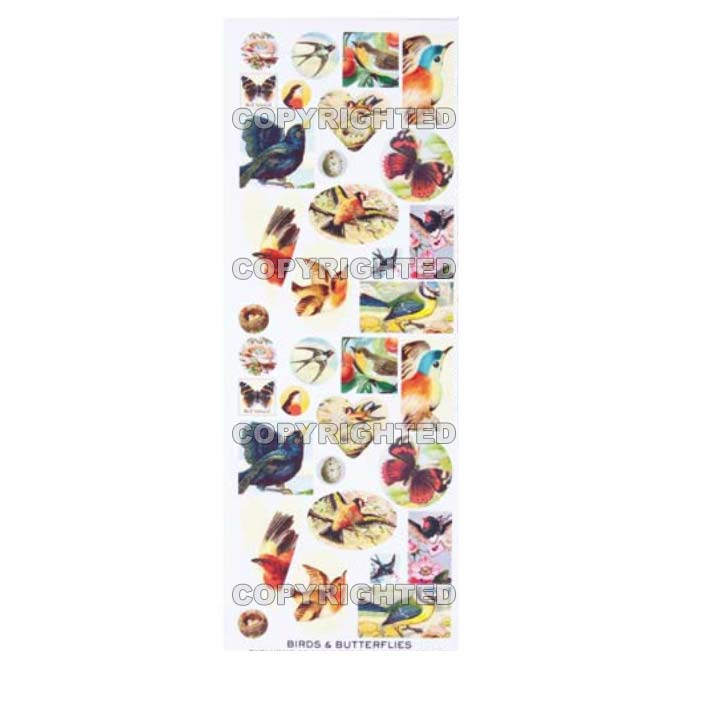 Nunn Design Collage Sheet Butterflies & Birds For Scrapbook - Fits Patera