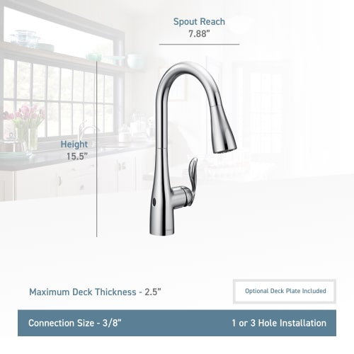 Moen 7594ew Arbor Pull Down High Arc Kitchen Faucet W Motionsense