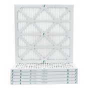 6 Pack of 24x24x1 MERV 10 Pleated Air Filters by Glasfloss. Actual Size: 23-3/8 x 23-3/8 x 7/8
