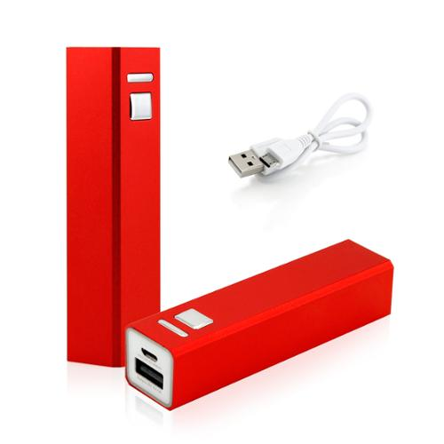 2600mAh Portable Mobile USB Power Bank External Battery Charger for Cell Phone backup - Red
